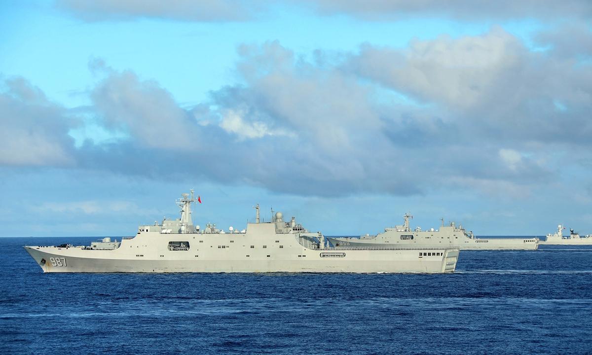 Trung Quốc điều tàu đổ bộ tới Vịnh Bắc Bộ diễn tập