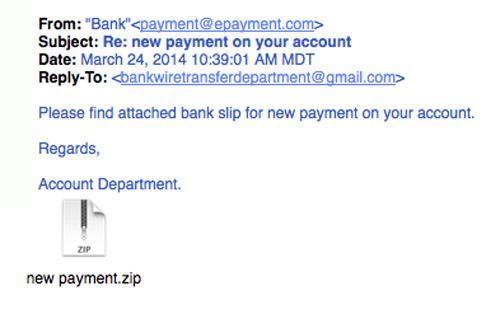 Bạn cần cẩn thận với file đính kèm bất thường trong email. Ảnh: Securitymetrics.