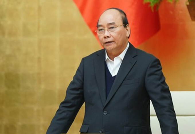 Thủ tướng Nguyễn Xuân Phúc phát biểu mở đầu cuộc họp. Ảnh: VGP.