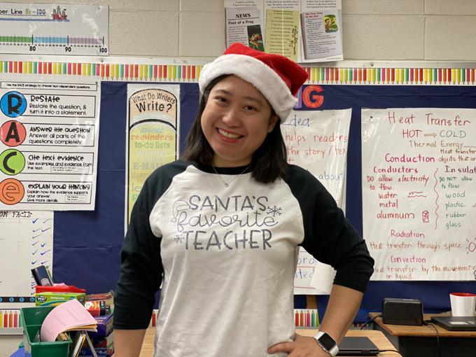 Cô Đinh Thu Hồng đang là giáo viên ESL tại Mỹ. Ảnh: Nhân vật cung cấp.