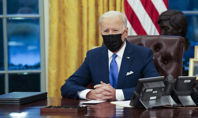 Tổng thống Mỹ Joe Biden tại Nhà Trắng hôm 2/2. Ảnh: AFP.