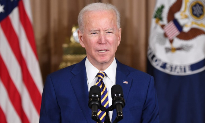 Biden phát biểu về chính sách đối ngoại hôm 4/2. Ảnh: AFP.