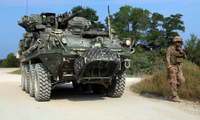 Lính Mỹ diễn tập tại Đức hồi năm 2020. Ảnh: US Army.