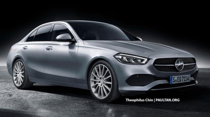 Mercedes C-class thế hệ mới theo hình dung của Theophilus Chin/Paultan