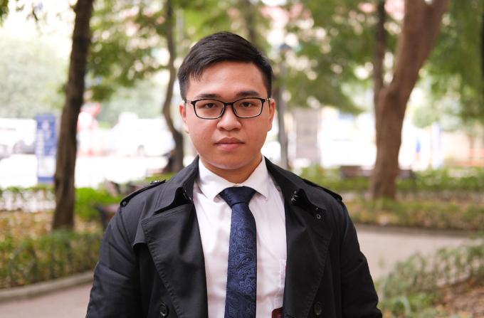 Phạm Đức Anh hiện là sinh viên năm ba Đại học Y Hà Nội. Ảnh: Dương Tâm.