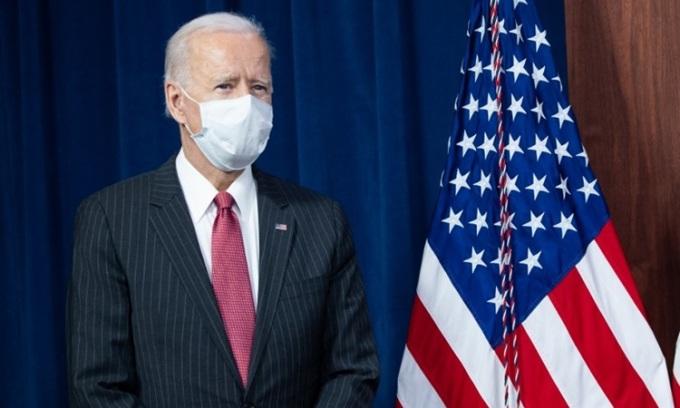 Tổng thống Joe Biden tại Lầu Năm Góc hôm 10/2. Ảnh: AFP.