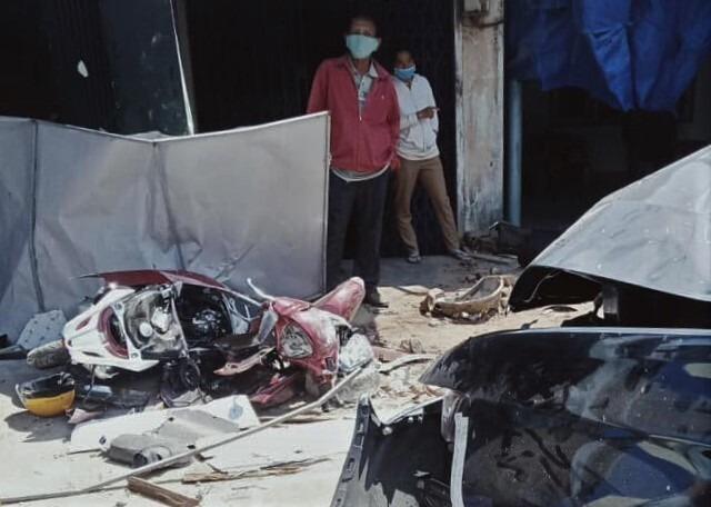 Hiện trường vụ tai nạn ở Bình Định ngày 15/2 khiến 3 người tử vong. Ảnh: Quy Nhơn