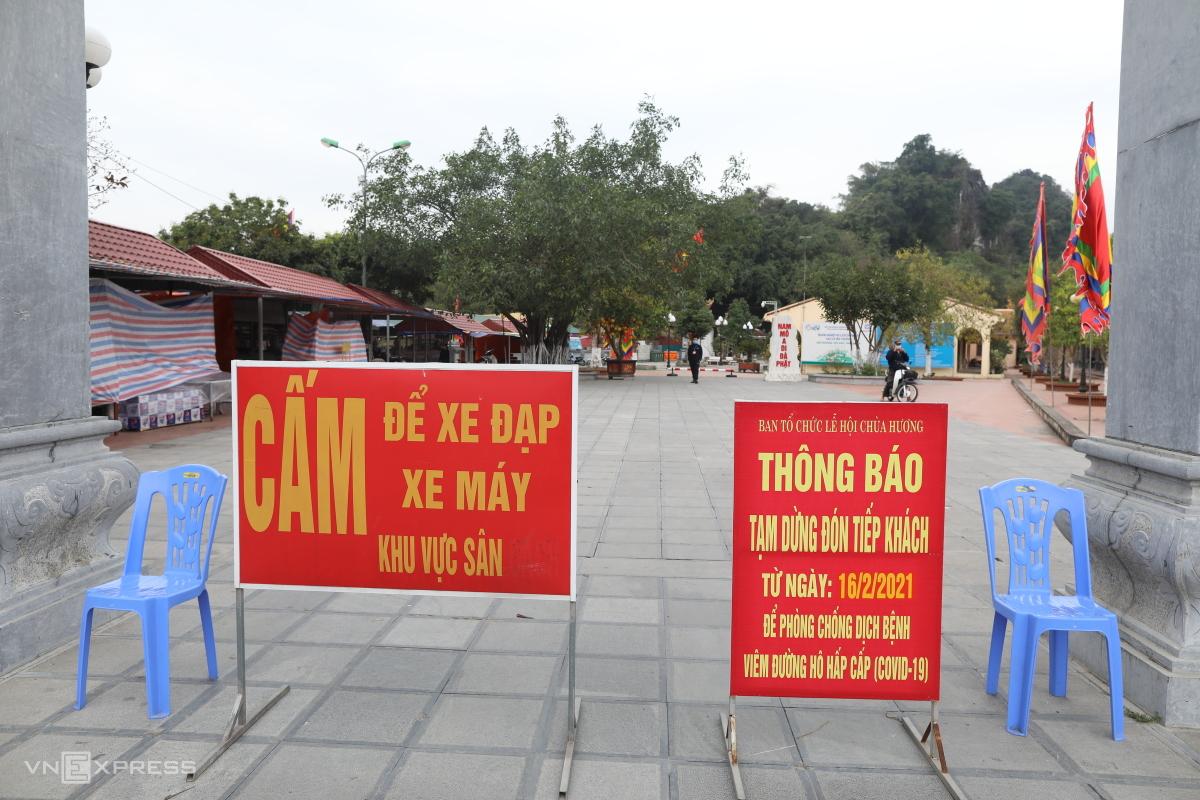 Chùa Hương vắng lặng ngày đầu mùa lễ hội