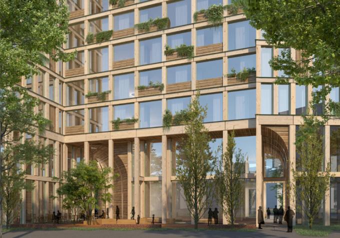 Thiết kế của WoHo hướng tới làm nổi bật vẻ đẹp tự nhiên của gỗ. Ảnh: Mad arkitekter.