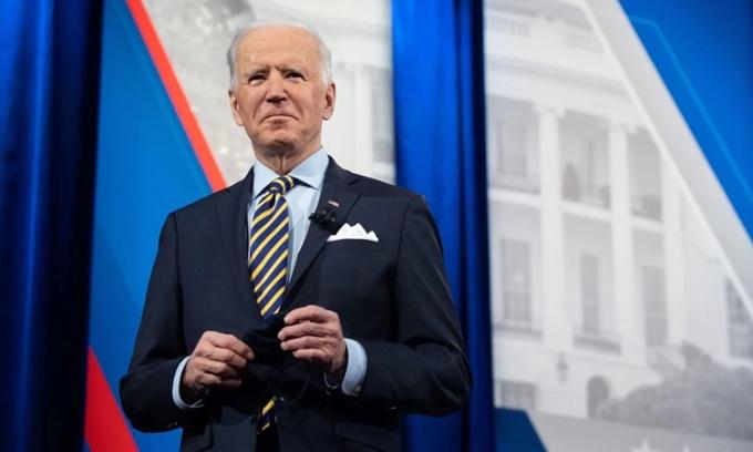 Tổng thống Mỹ Joe Biden tại cuộc phỏng vấn của CNN ngày 16/2. Ảnh: AFP.
