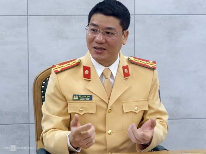 Đại tá Đỗ Thanh Bình, Cục phó Cục CSGT, trả lời VnExpress ngày 19/2. Ảnh: Bá Đô