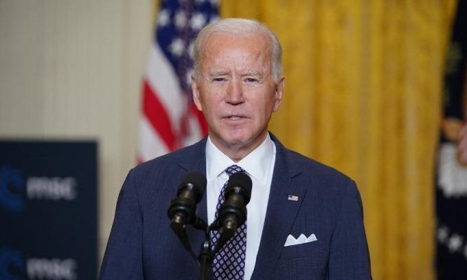 Biden phát biểu tại hội nghị hôm 19/2. Ảnh: AFP.