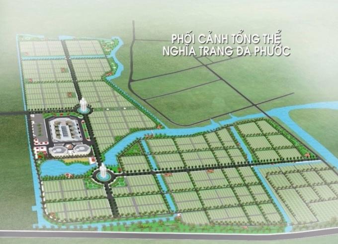Phối cảnh tổng thể dự án nghĩa trang Đa Phước đang thực hiện giai đoạn 2. Ảnh: CITENCO.
