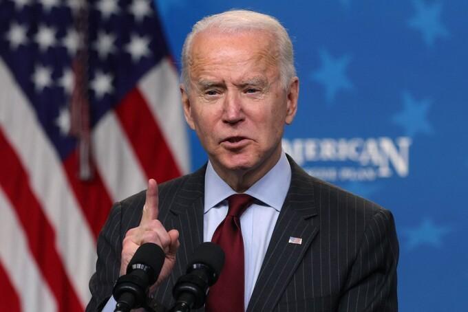 Tổng thống Joe Biden tại thủ đô Washington ngày 22/2. Ảnh: AFP.