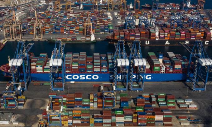 Cảng Piraeus ở Hy Lạp. Ảnh: Xinhua.
