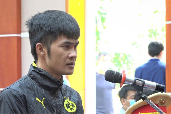 Bị cáo Vũ Văn Tập bị Tòa án nhân dân huyện Bình Giang đưa ra xét xử chiều 24/2. Ảnh: CAHD