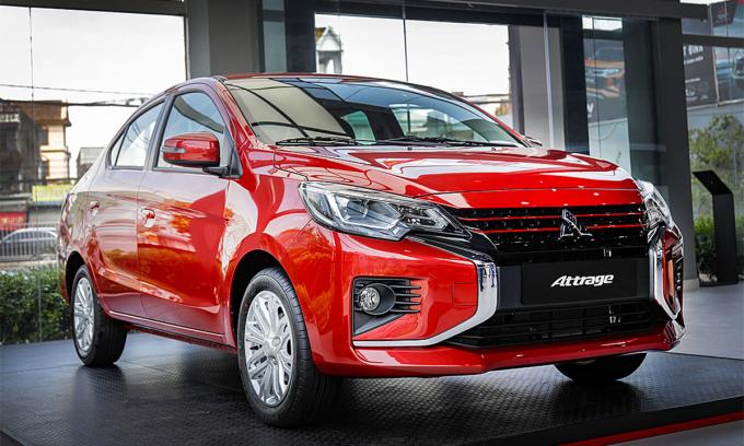 Attrage 2021 phiên bản CVT Premium. Ảnh: Mitsubishi