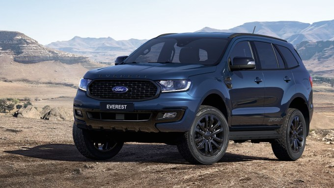 Thiết kế Ford Everest Sport 2021. Ảnh: Ford