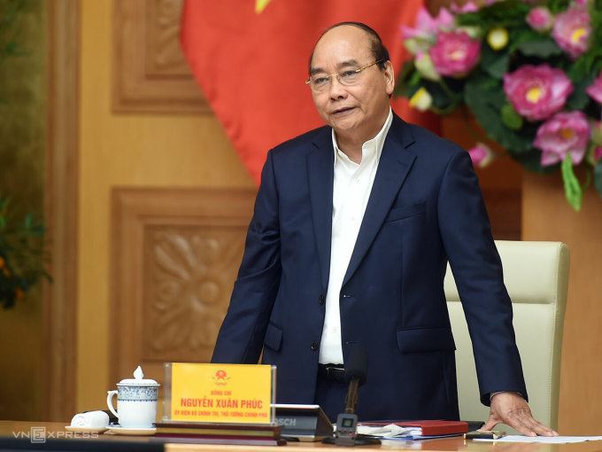 Thủ tướng Nguyễn Xuân Phúc phát biểu tại buổi làm việc. Ảnh: Quang Hiếu/VGP.