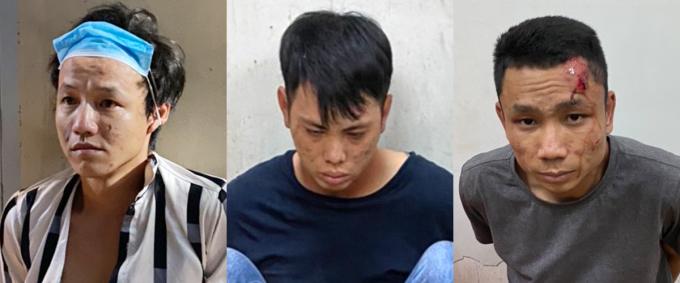 Ba nghi can bị bắt. Ảnh: Hồ Nam.