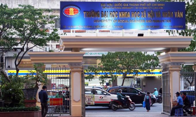 Cơ sở chính trường Đại học Khoa học xã hội và Nhân văn TP HCM tại quận 1, TP HCM. Ảnh: Mạnh Tùng.