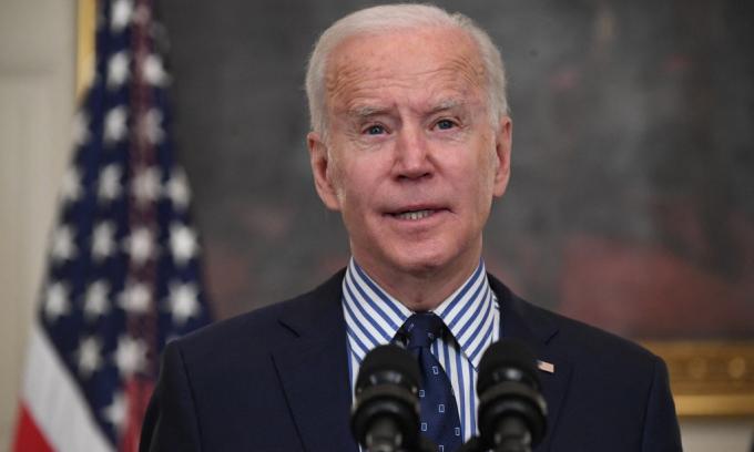 Tổng thống Mỹ Joe Biden phát biểu tại Nhà Trắng hôm 6/3. Ảnh: AFP.