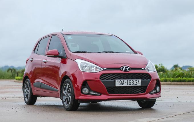 Hyundai i10 năm 2017, khi mới chuyển từ nhập khẩu sang lắp ráp tại Việt Nam. Ảnh: Lương Dũng