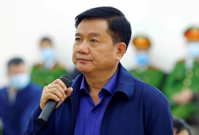 Bị cáo Đinh La Thăng trong phiên xét xử vụ án Ethanol Phú Thọ. Ảnh: TTXVN