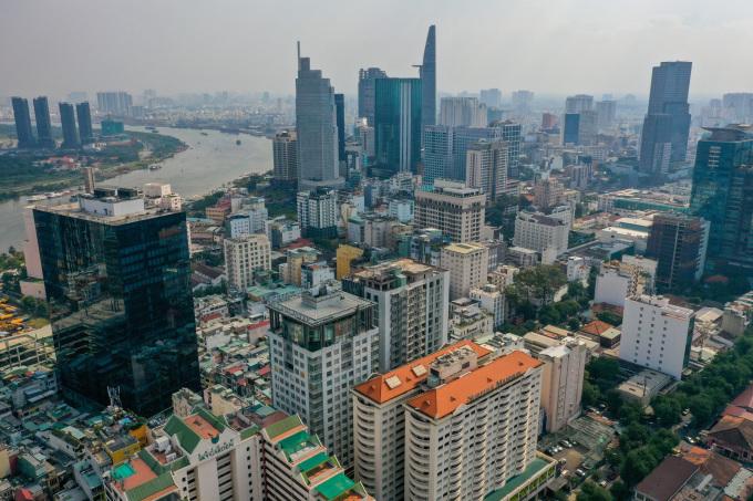 Khu trung tâm TP HCM, tháng 1/2021. Ảnh: Quỳnh Trần.