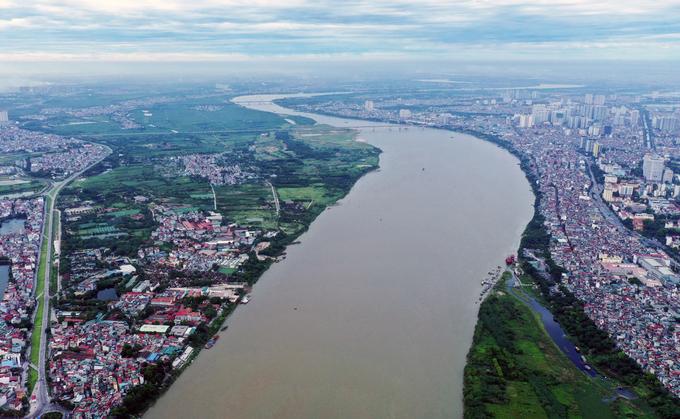 Quy hoạch phân khu sông Hồng sắp được ban hành sau nhiều năm xây dựng đồ án. Ảnh: Ngọc Thành.
