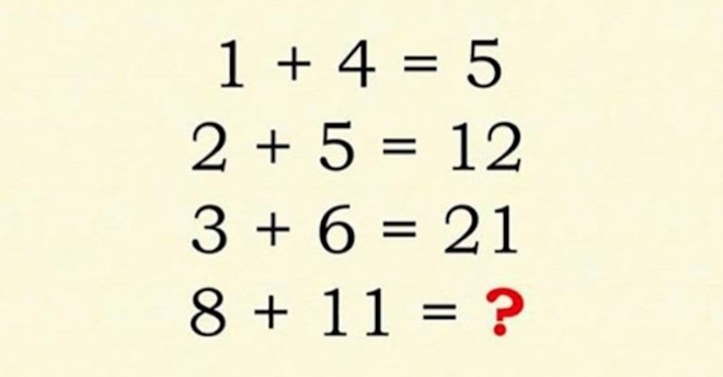 Bài toán khiến nhiều người chào thua