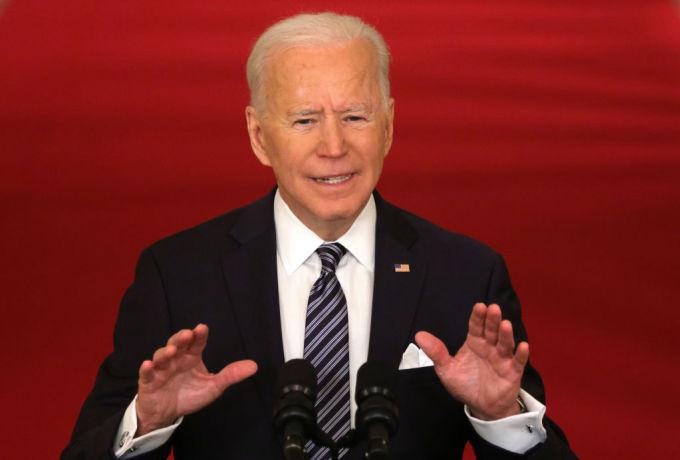 Tổng thống Mỹ Joe Biden phát biểu về Covid-19 tại Nhà Trắng hôm 11/3. Ảnh: AFP.