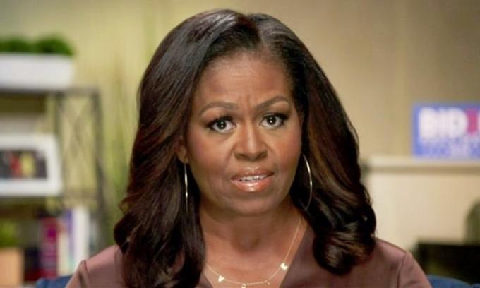 Cựu đệ nhất phu nhân Michelle Obama phát biểu qua video trong Hội nghị Quốc gia đảng Dân chủ vào tháng 8/2020. Ảnh: Reuters