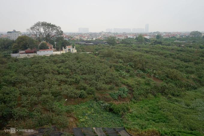 Bãi sông xã Đông Dư, huyện Gia Lâm. Ảnh: Gia Chính.