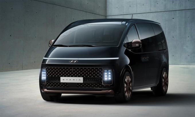 Staria - mẫu MPV mới có cảm hứng từ tàu vũ trụ. Ảnh: Hyundai