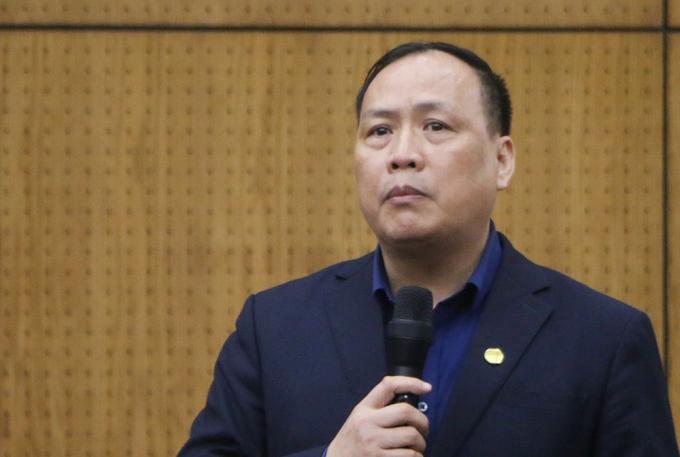 GS Nguyễn Đình Đức nêu đều xuất tại hội nghị tuyển sinh đại học, cao đẳng sư phạm ngày 25/3. Ảnh: Anh Tuệ.