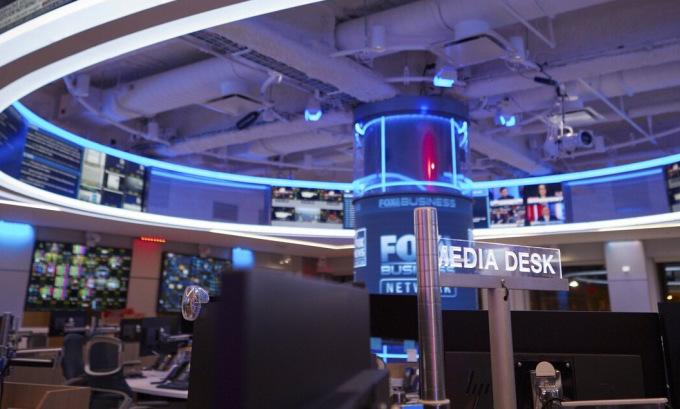 Trụ sở Fox News tại thành phố New York hồi năm 2019. Ảnh: AP.