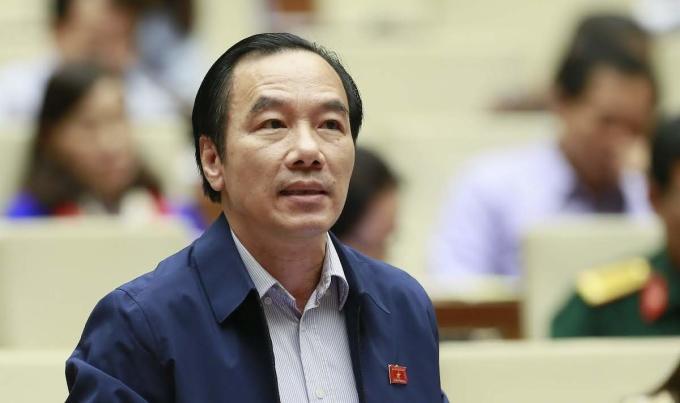 Đại biểu Ngô Sách Thực, Phó Chủ tịch Ủy ban Trung ương Mặt trận Tổ quốc Việt Nam tại nghị trường. Ảnh: Hoàng Phong