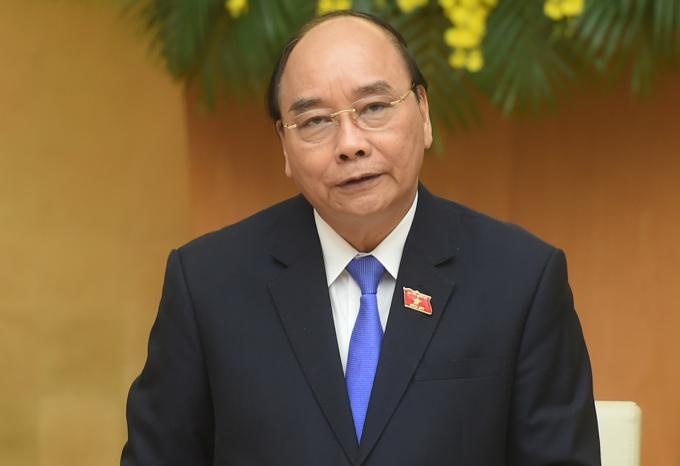 Thủ tướng Nguyễn Xuân Phúc chủ trì phiên họp Chính phủ thường kỳ tháng 3, chiều 31/3. Ảnh: VGP