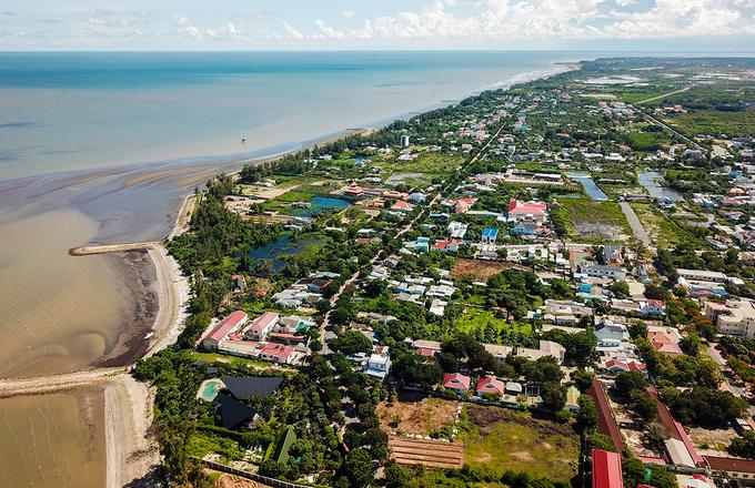 Khu vực thị trấn Cần Thạnh thuộc huyện Cần Giờ, tháng 7/2020. Ảnh: Quỳnh Trần.