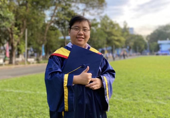 Thạc sĩ Đỗ Nguyễn Hoàng Nga tại trường Đại học Bách khoa (Đại học Quốc gia TP HCM). Ảnh: Nhân vật cung cấp.