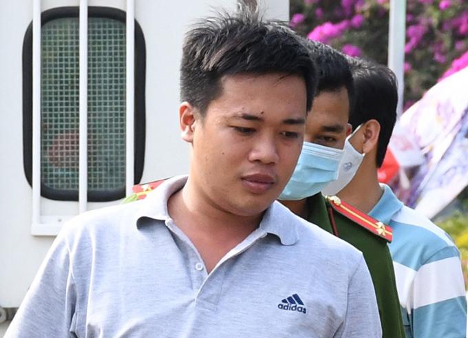 Nguyễn Thiện Toàn khi bị bắt giữ. Ảnh: Châu Thành