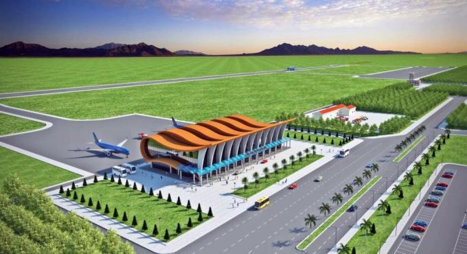 Phối cảnh sân bay Phan Thiết lúc được chọn năm 2014.