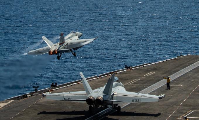 Mỹ tiết lộ hoạt động của tàu sân bay trên Biển Đông