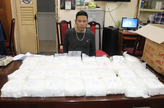 Số ma túy bị thu giữ. Ảnh: Kim Tuyến.
