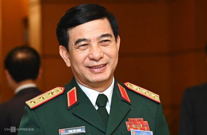 Bộ trưởng Quốc phòng - thượng tướng Phan Văn Giang. Ảnh: Giang Huy