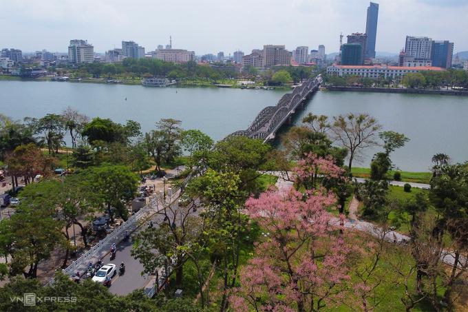 Khu vực trung tâm thành phố Huế. Ảnh: Võ Ngọc Thạnh