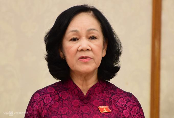 Bà Trương Thị Mai, Trưởng Ban Tổ chức Trung ương. Ảnh: Hoàng Phong
