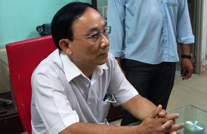 Ông Nguyễn Văn Ngưu tại cơ quan điều tra. Ảnh: Hồ Nam