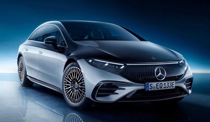 EQS - bản chạy điện của S-class. Ảnh: Mercedes